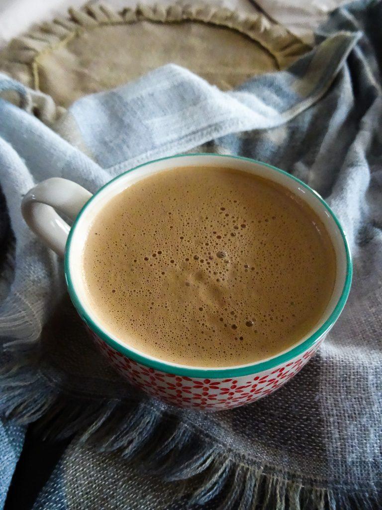 creamy dairy-free peppermint mocha elixir