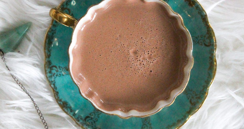 dairy free cacao ceremony with raw cacao, smudge, sage, amythest, clear quartz, rose quartz, crystals, herbs, adventurine
